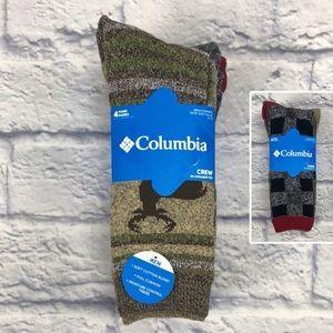 Columbia Men's Cotton Blend Crew Socks | 4 Pairs